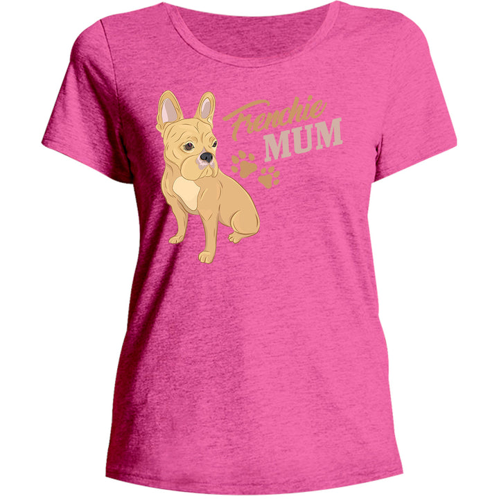 Frenchie Mum - Ladies Relaxed Fit Tee - Graphic Tees Australia