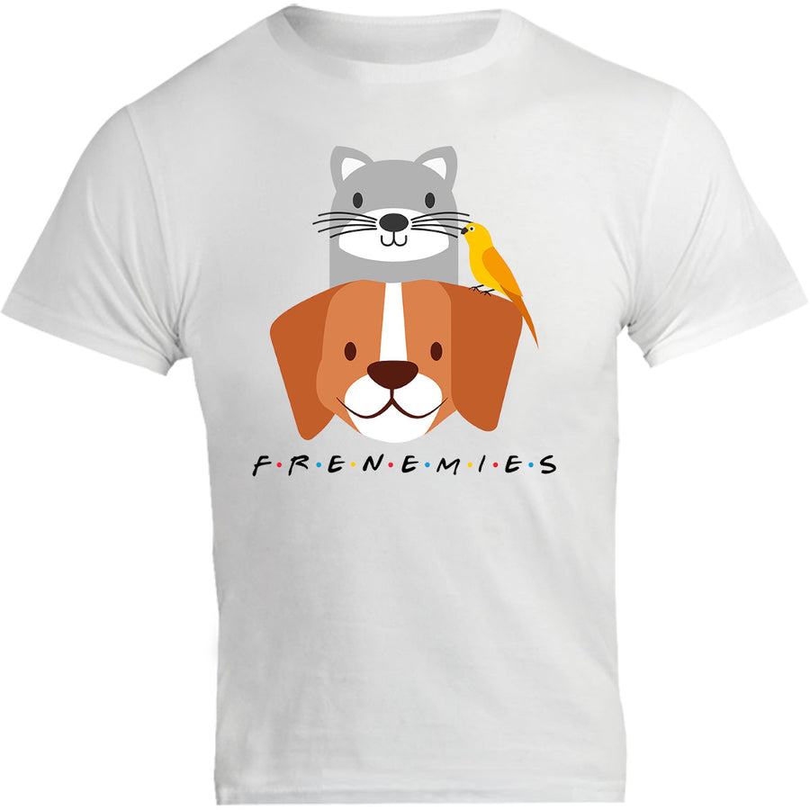 Frenemies Cat Dog Bird - Unisex Tee - Graphic Tees Australia