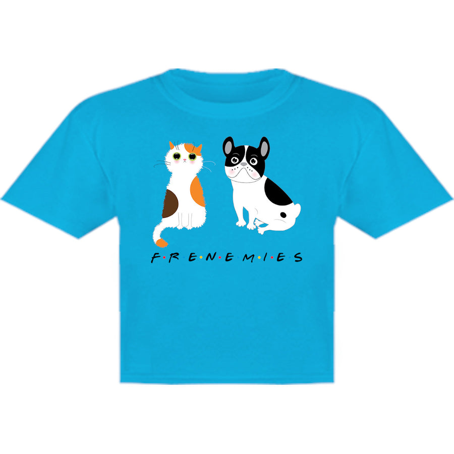 Frenemies Cat Dog - Youth & Infant Tee - Graphic Tees Australia