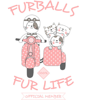 Furballs Fur Life - Adult & Youth Hoodie - Graphic Tees Australia