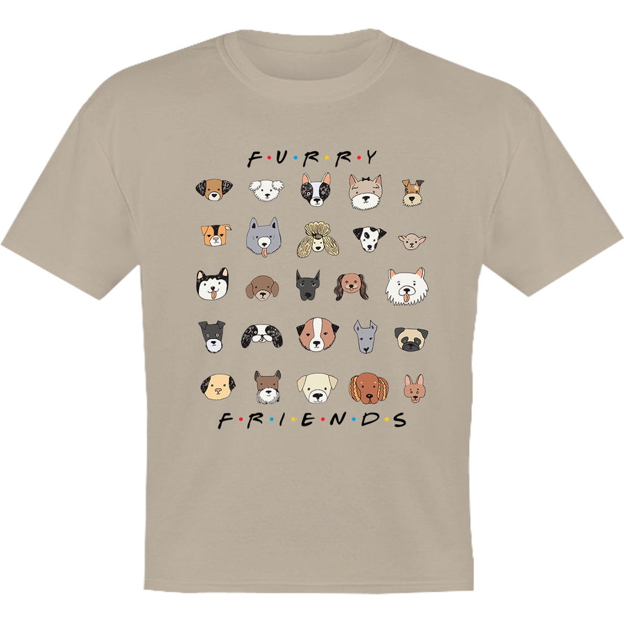 Furry Friends Dog Faces - Youth & Infant Tee - Graphic Tees Australia