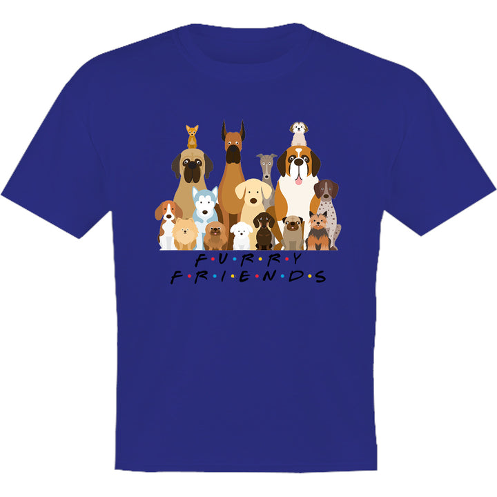 Furry Friends Group of Dogs - Youth & Infant Tee - Graphic Tees Australia
