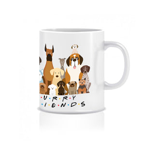 Furry Friends Group of Dogs - Ceramic Mug - Graphic Tees Australia