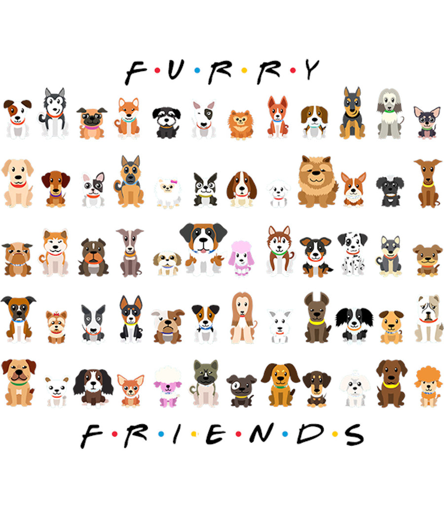 Furry Friends So Many Dogs - Youth & Infant Tee - Graphic Tees Australia