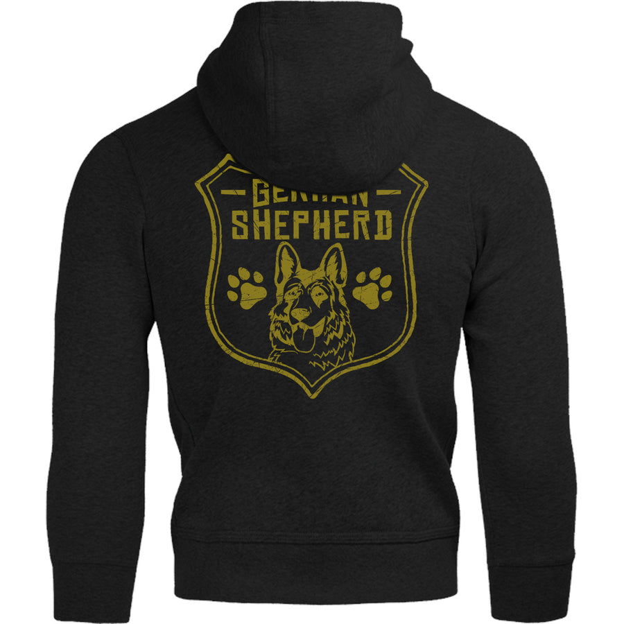 German Shepherd Shield - Adult & Youth Hoodie - Graphic Tees Australia