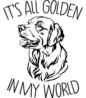 Golden In My World - Unisex Tee - Graphic Tees Australia