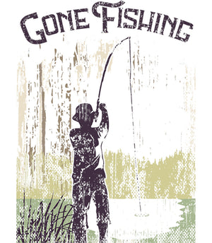Gone Fishing - Ladies Relaxed Fit Tee - Graphic Tees Australia
