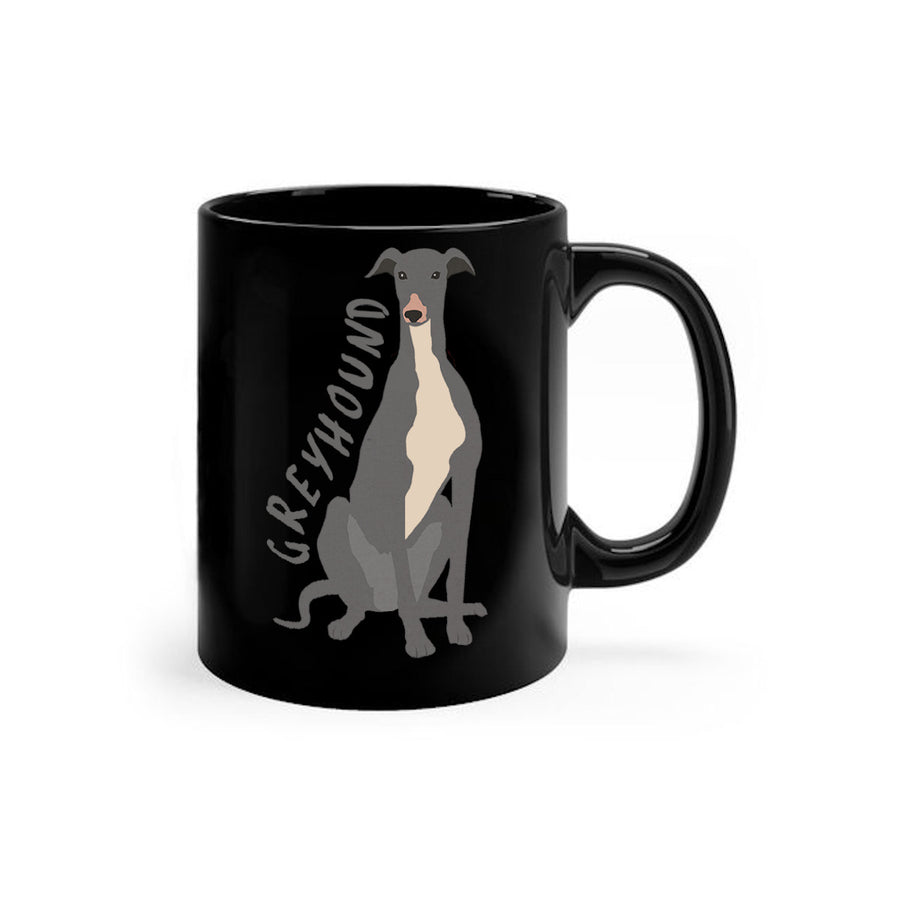 Greyhound Cartoon - Ceramic Mug - Graphic Tees Australia
