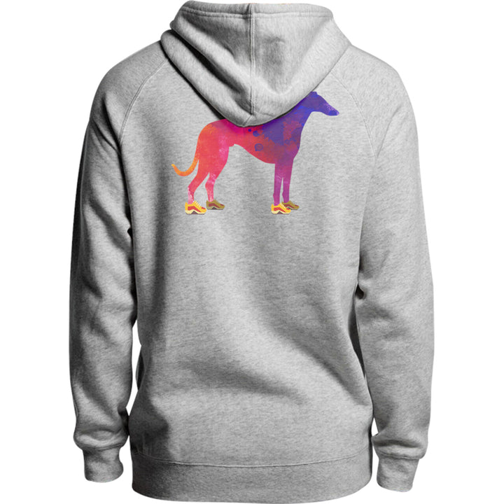 Greyhound In Running Shoes - Unisex Hoodie - Plus Size - Graphic Tees Australia