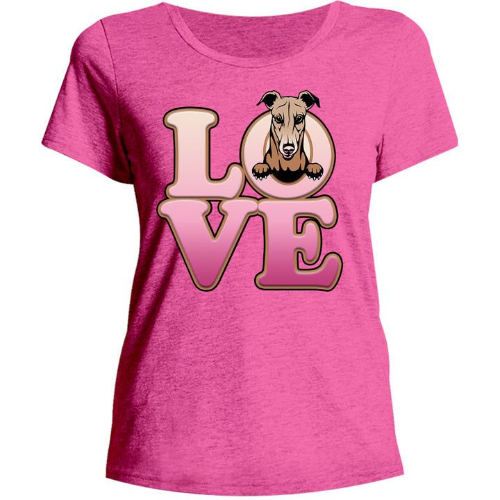 Greyhound Love - Ladies Relaxed Fit Tee - Graphic Tees Australia