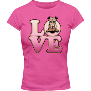 Greyhound Love - Ladies Slim Fit Tee - Graphic Tees Australia