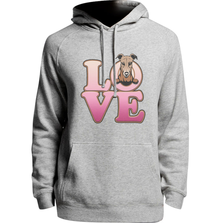 Greyhound Love - Unisex Hoodie - Plus Size - Graphic Tees Australia