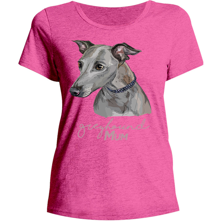 Greyhound Mum - Ladies Relaxed Fit Tee - Graphic Tees Australia