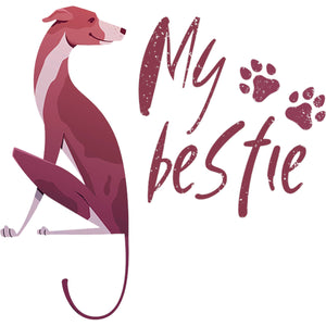 Greyhound My Bestie - Unisex Tee - Graphic Tees Australia