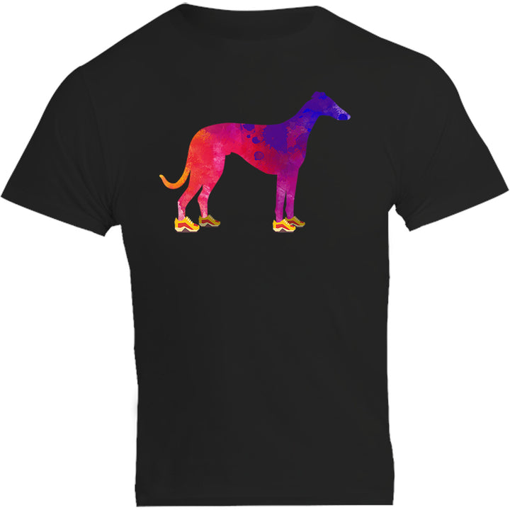 Greyhound In Running Shoes - Unisex Tee - Plus Size - Graphic Tees Australia