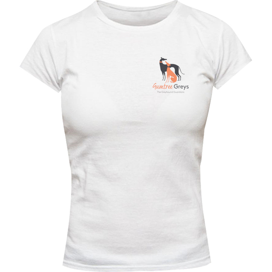 Freedom Nuggets front & back - Ladies Slim Fit Tee