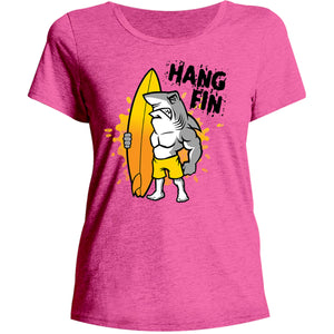 Hang Fin - Ladies Relaxed Fit Tee - Graphic Tees Australia