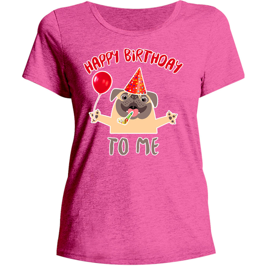 Happy Birthday To Me - Ladies Relaxed Fit Tee - Graphic Tees Australia