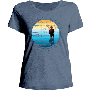 Hook Line and Sinker - Ladies Relaxed Fit Tee - Graphic Tees Australia
