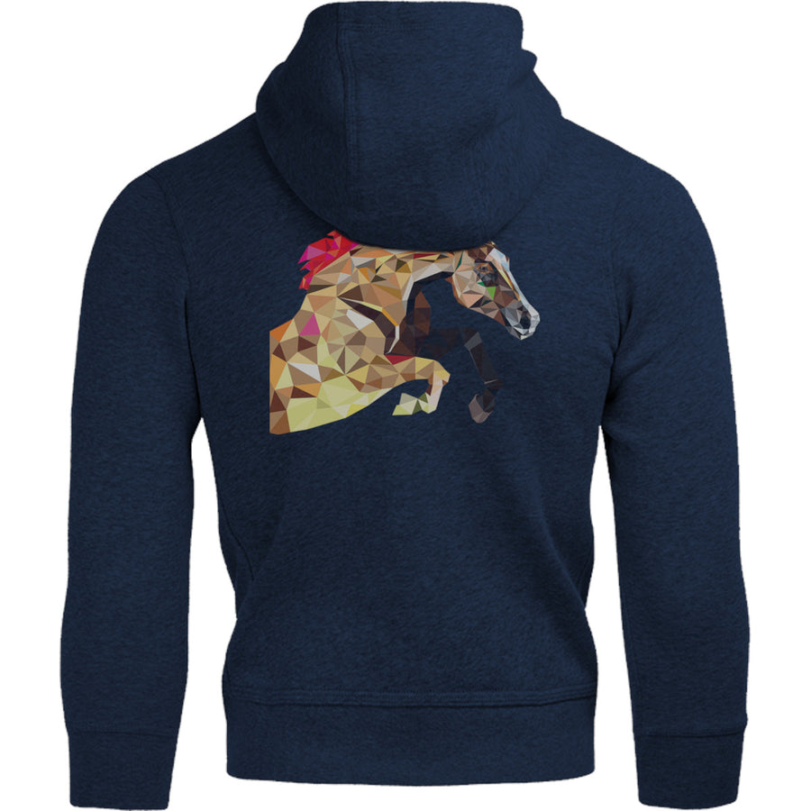 Horse Geometric Pattern - Adult & Youth Hoodie - Graphic Tees Australia