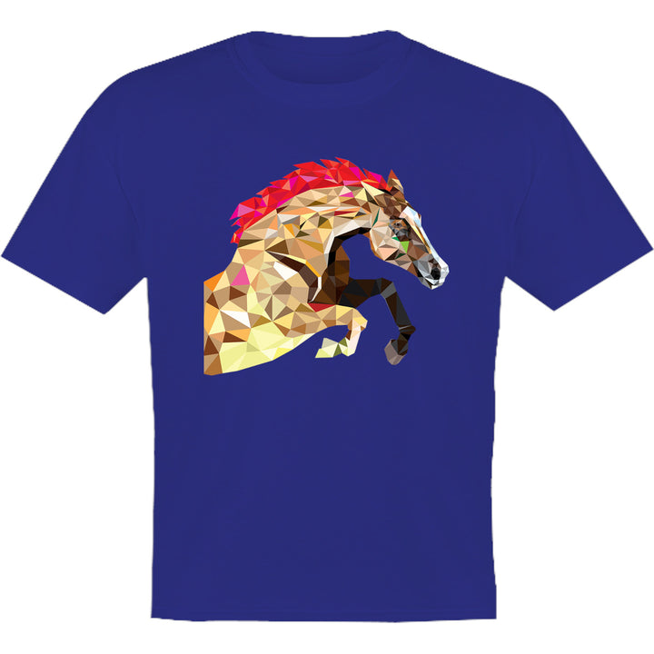 Horse Geometric Pattern - Youth & Infant Tee - Graphic Tees Australia