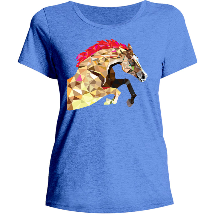Horse Geometric Pattern - Ladies Relaxed Fit Tee - Graphic Tees Australia