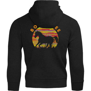 Horse Silhouette Born Free - Adult & Youth Hoodie - Graphic Tees Australia