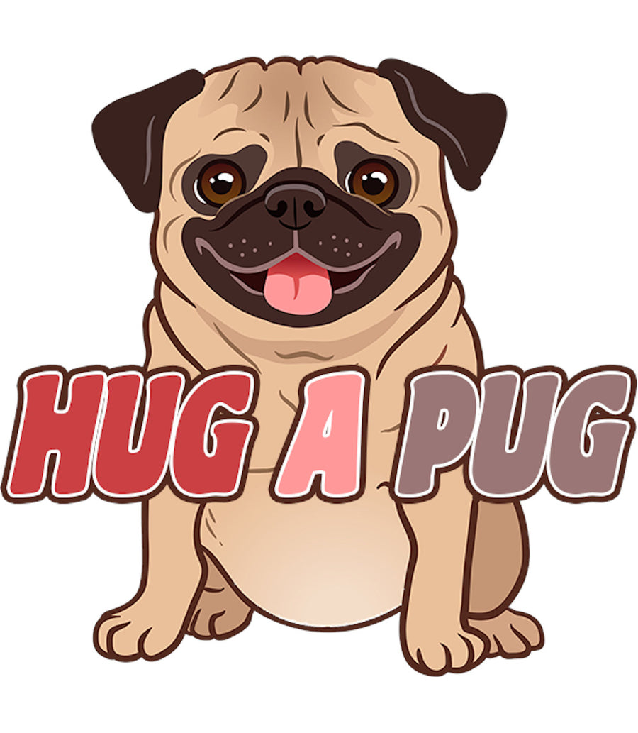 Hug A Pug - Ladies Relaxed Fit Tee - Graphic Tees Australia