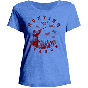 Hunting Drone Season - Ladies Relaxed Fit Tee - Graphic Tees Australia