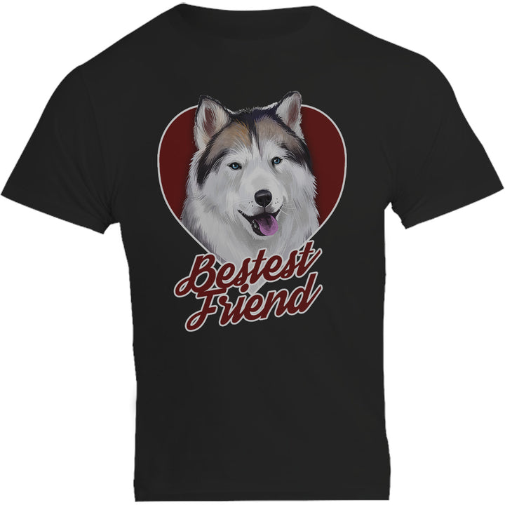 Husky Bestest Friend - Unisex Tee - Plus Size - Graphic Tees Australia