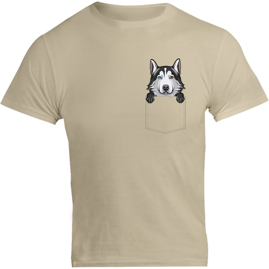 Husky in Pocket - Unisex Tee - Graphic Tees Australia