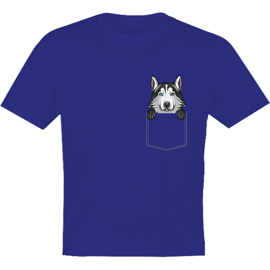 Husky in Pocket - Youth & Infant Tee - Graphic Tees Australia