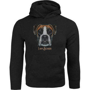 I Am Boxer - Adult & Youth Hoodie - Graphic Tees Australia