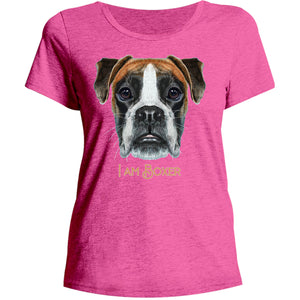 I Am Boxer - Ladies Relaxed Fit Tee - Graphic Tees Australia
