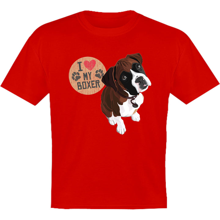 I Love My Boxer - Youth & Infant Tee - Graphic Tees Australia