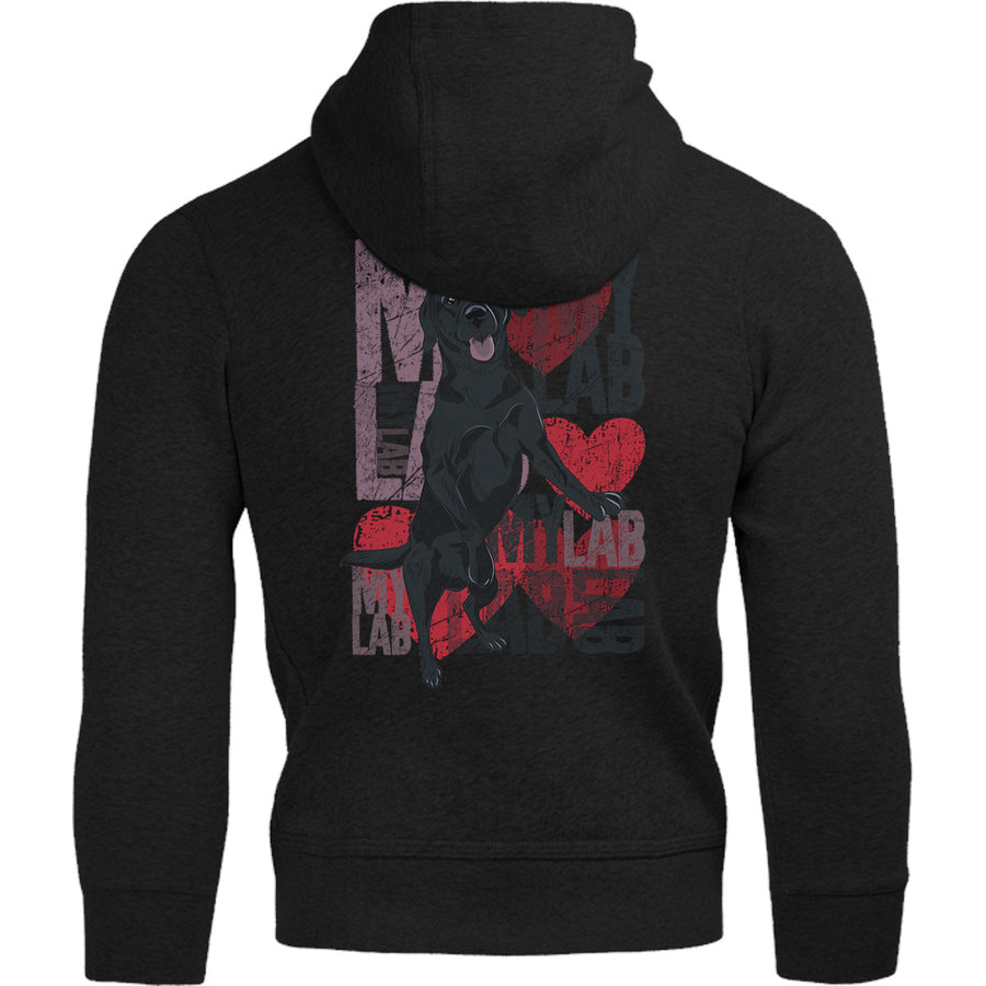 I Love My Lab - Adult & Youth Hoodie - Graphic Tees Australia
