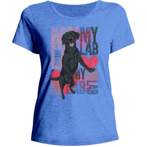 I Love My Lab - Ladies Relaxed Fit Tee - Graphic Tees Australia