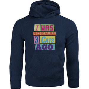 I Was Normal 3 Cats Ago - Adult & Youth Hoodie - Graphic Tees Australia