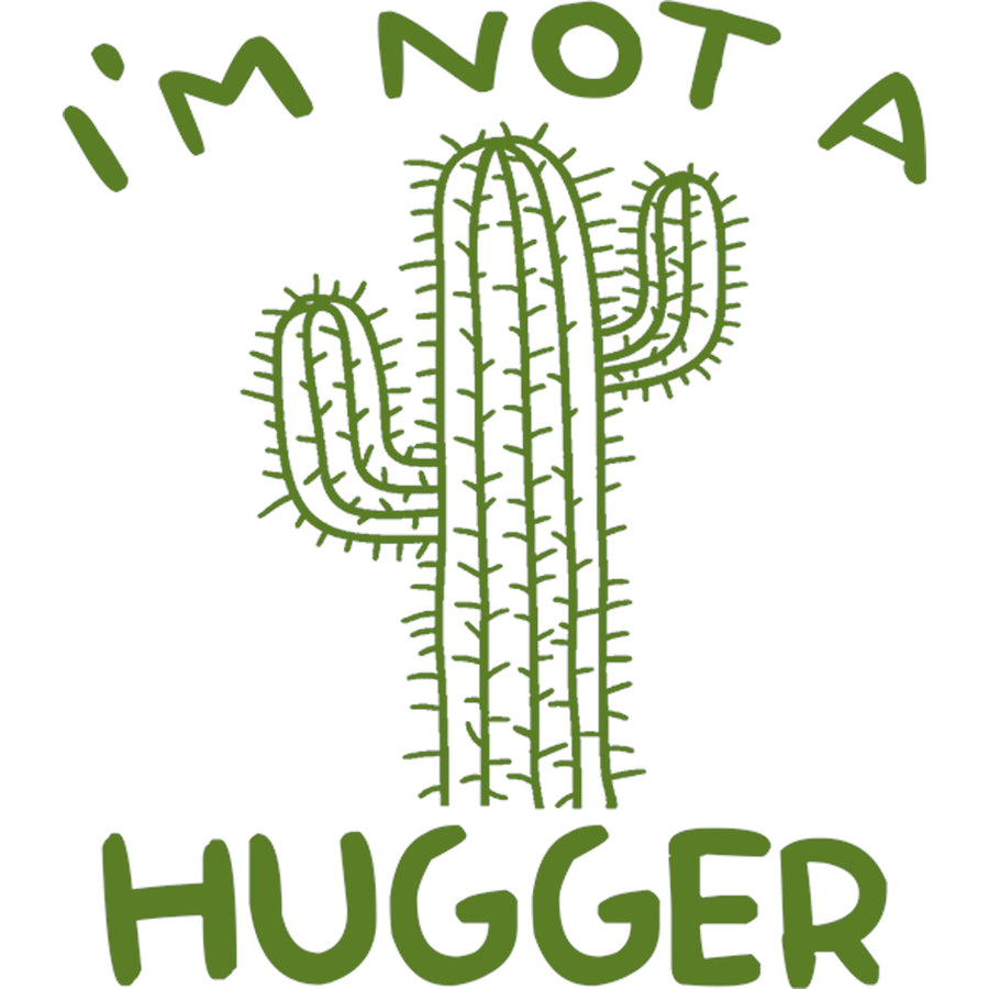 I'm Not A Hugger - Ladies Slim Fit Tee - Graphic Tees Australia