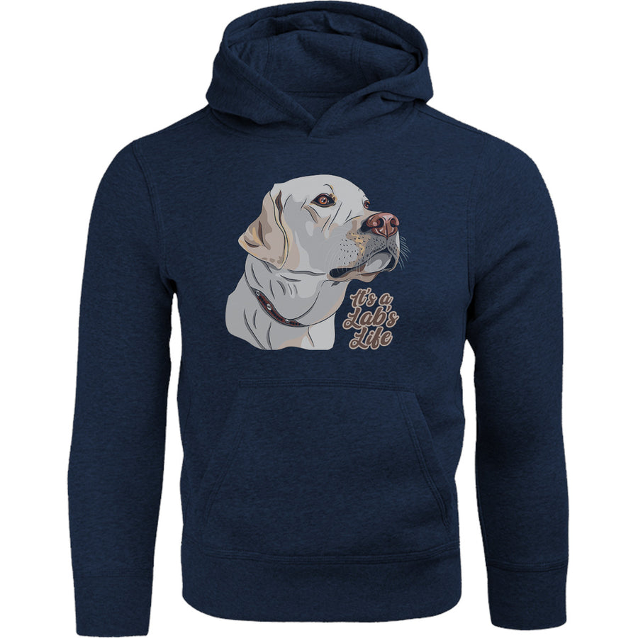 It's A Lab's Life - Adult & Youth Hoodie - Graphic Tees Australia