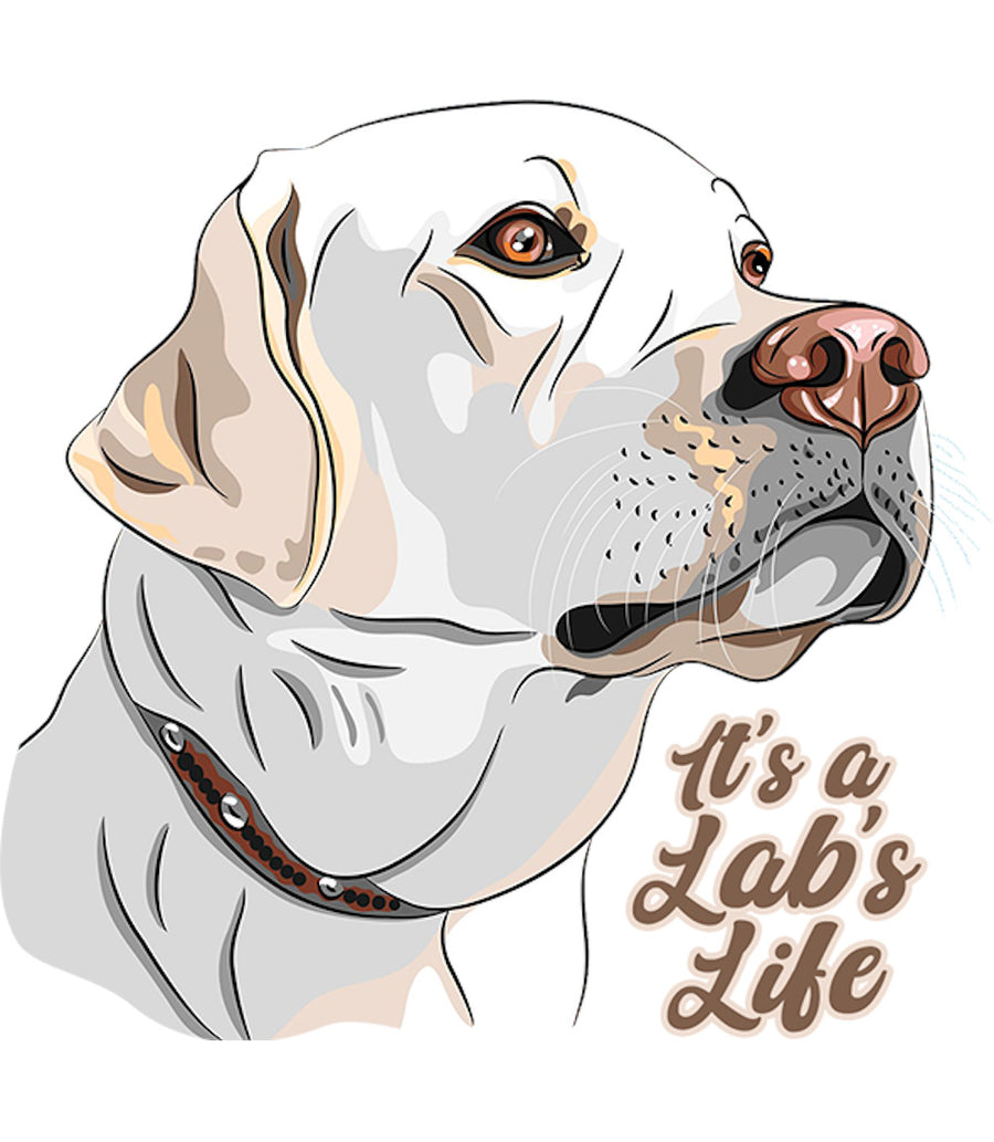 It's A Lab's Life - Ladies Relaxed Fit Tee - Graphic Tees Australia
