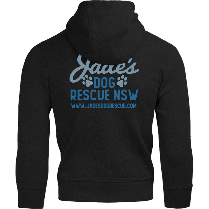 Jade's Dog Rescue front & back - Adult & Youth Hoodie - Graphic Tees Australia