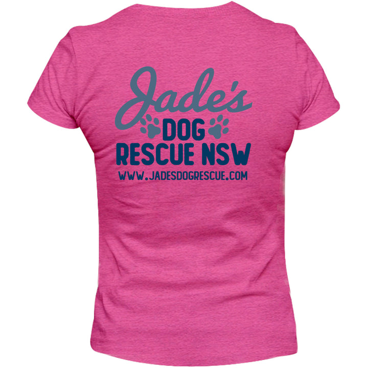 Jade's Dog Rescue front & back - Ladies Relaxed Fit Tee - Graphic Tees Australia