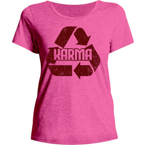 Karma - Ladies Relaxed Fit Tee - Graphic Tees Australia