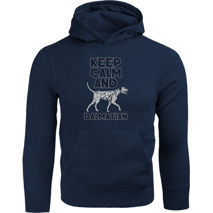 Keep Calm And Dalmatian - Adult & Youth Hoodie - Graphic Tees Australia