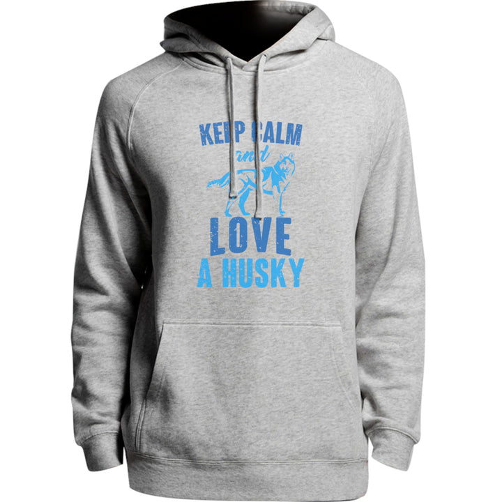 Keep Calm And Love A Husky - Unisex Hoodie - Plus Size - Graphic Tees Australia