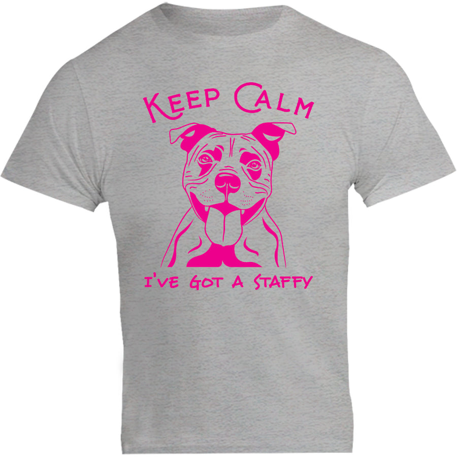 Keep Calm I've Got A Staffy - Unisex Tee - Graphic Tees Australia