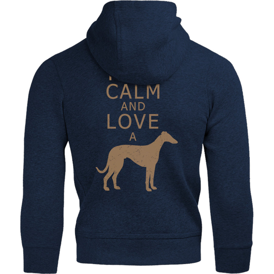 Keep Calm Love A Greyhound - Adult & Youth Hoodie - Graphic Tees Australia