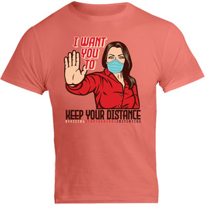 Keep Your Distance - Unisex Tee - Graphic Tees Australia
