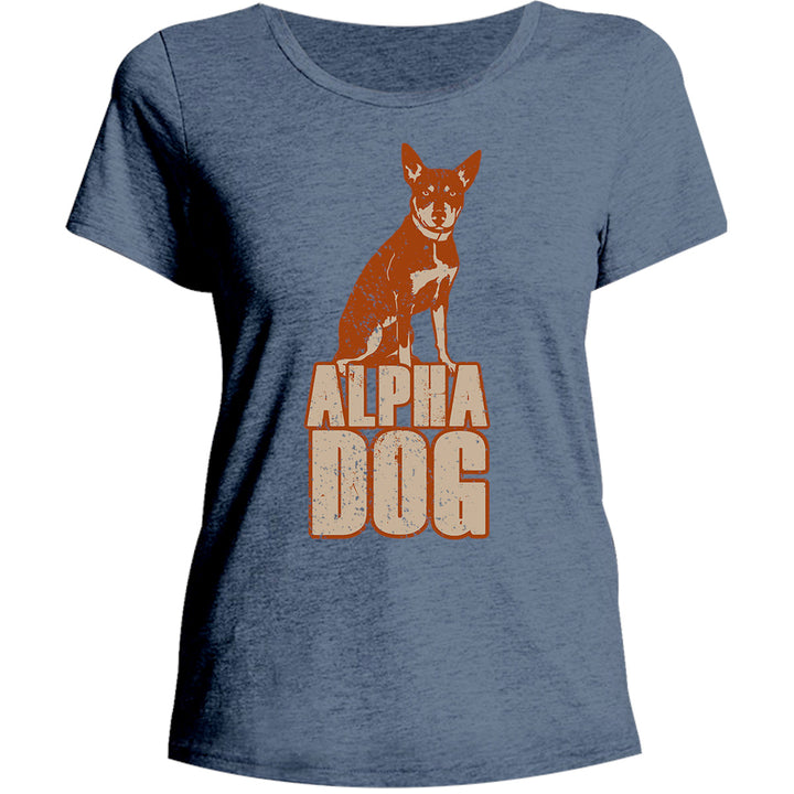 Kelpie Alpha Dog - Ladies Relaxed Fit Tee - Graphic Tees Australia